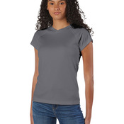 Ladies' 4.1 oz. Double Dry® V-Neck T-Shirt
