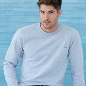 Ultra Cotton Long Sleeve T-Shirt with a Pocket