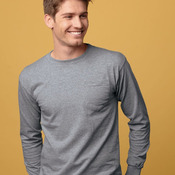 Union-Made Long Sleeve T-Shirt with a Pocket