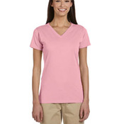 Ladies' 4.4 oz., 100% Organic Cotton Short-Sleeve V-Neck T-Shirt