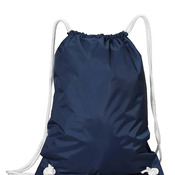 White Drawstring Backpack