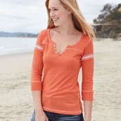 Women's Hailey Henley Three-Quarter Sleeve Shirt