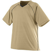Youth Wicking Polyester V-Neck Jersey with Contrast Piping