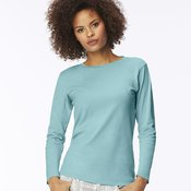 Garment-Dyed Women's Ringspun Long Sleeve T-Shirt