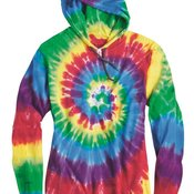 Tie-Dyed Hooded Pullover T-Shirt