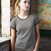 Women's Eco Mock Twist Ideal Ringer Tee